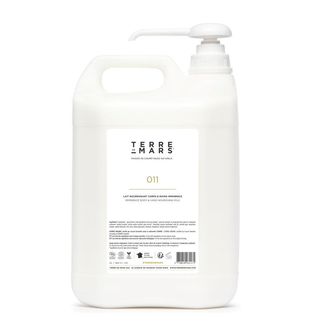Terre de mars recharge lait corps et mains 5 litres